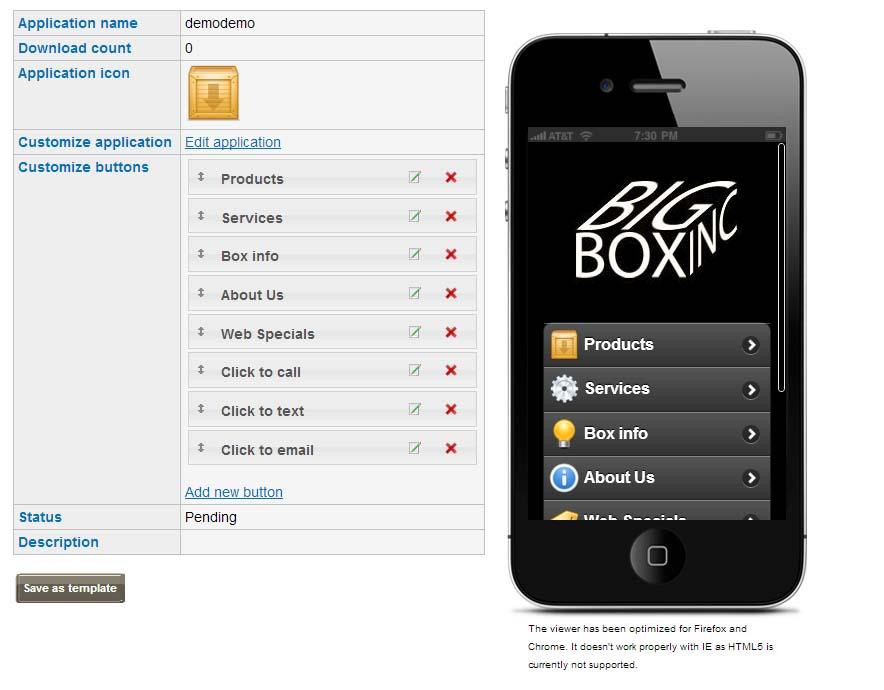 HTML5 app tool